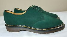 VTG Dr. Martens Shoes Green Suede Size 9 Made in England Doc Boots