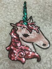 Horse sequined patch embroidered applique Diy decoration Sweater sew on patch