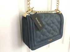 NWT Bebe handbag Crossbody Shoulder Bag PURSE CHAINS BLUE 100% Authentic $89