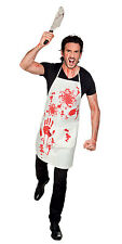 MENS BLOODY ZOMBIE BUTCHER HALLOWEEN BLOOD STAINED FANCY DRESS COSTUME APRON NEW