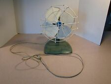 VTG Small Fanmaster Electric Table Fan Mid Century Working Blueish Green