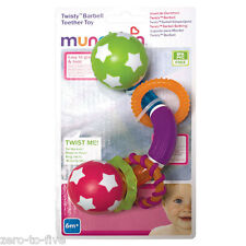 Brand New Munchkin Twisty Barbell Teether - Great For Teething Babies
