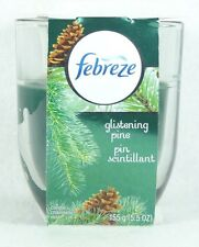 1 Febreze Limited Edition GLISTENING PINE Scented 1 - Wick Filled Candle