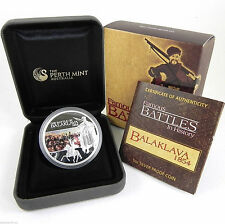 2009 Balaklava 1854 - Famous Battles In History 1oz .999 Silver Proof Coin