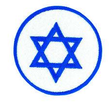 Parche bandera Israel emblema estrella de david PATCH bordado termoadhesivo