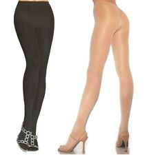 Opaque Sheer to Waist Lycra Tights 3 Colors Pantie Hose Pantyhose fnt