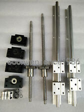 2 x SBR20-1000mm linear rail guides +2 ballscrew RM1605-1065mm BK/BF12 &coupling