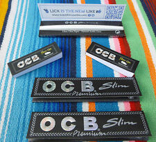 3 unos cuantos folletos OCB negro Premium Long slim cuaderno à32 Papers con 100 filtros tips