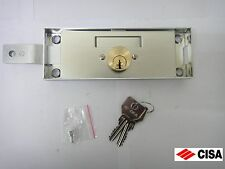 CISA HIGH SECURITY LEFT ROLLER SHUTTER LOCK 41525.78 (157 x 56mm) STEEL - NEW