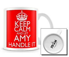 KCHI_027 Keep Calm and Let Amy handle it mug