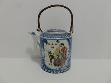 TEAPOT ANTIQUE EXPORT OLD TEAPOT CHINESE FAMILLE ROSE PORCELAIN 5055