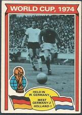 TOPPS 1978 FOOTBALLERS #346-WORLD CUP 1974