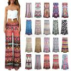 Womens Loose High Waist Wide Leg Long Pants Stretch Palazzo Trousers S-XL A62