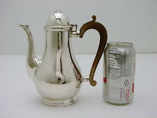 English Sterling Silver Coffee pot Wood Handle w Marks 21.8oz Robinson 1927