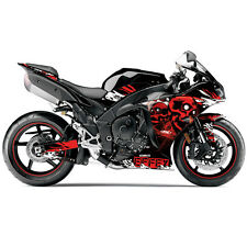 FX Skull Sport Bike Pre-Cut Graphics Wrap Kit for Yamaha YZF R1 09-14 Red