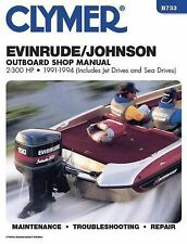 1991 1992 1993 1994 Johnson Evinrude 2-300HP Outboard Clymer Repair Manual B733