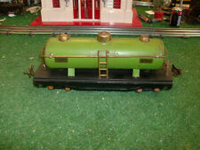 LIONEL TRAINS PREWAR NO. 815 GREEN LIONEL LINES TANK CAR 1926-42 - VERY NICE