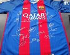 BARCELONA  F.C.  PERSONALLY HAND SIGNED JERSEY 2016/2017 , MESSI, NEYMAR, PIQUE