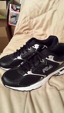 Brand New MENS BLACK FILA DLS RUNNING TRAINERS UK 9.5