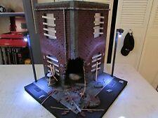 """Custom Display Diorama Damaged Street Corner Marvel DC Dead Pool TMNT 1:12 5"""" 6"""""""