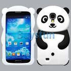 New Black Cute Panda Style Silicone Cover Case for Samsung Galaxy S4 i9500
