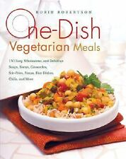 One-Dish Vegetarian Meals: 150 Easy, Wholesome, and Delicious Soups,-ExLibrary