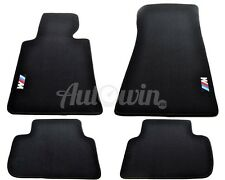 BMW 3 Series E46 Floor mats With M Emblem LHD Side Clips NEW