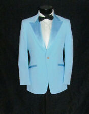 Incredible Vintage Blue Men One Button Tuxedo Dinner Jacket 36 S NWOT