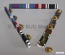 GSM + GOLD JUBILEE + DIAMOND JUBILEE + AMBULANCE LONG SERVICE MEDAL RIBBON BAR