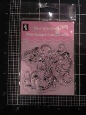 Fancy Flower Flourich Inkadinkado Clear mini Stamps