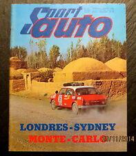 Sport Auto 01/69 38e Rallye Monte Carlo, CG 1200 S, BMW 2002 TI, Rex Mays Trophy