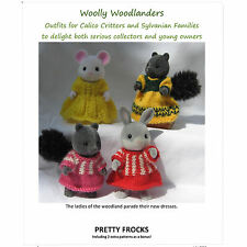 Knitting pattern: Sylvanian Families, Calico Critters doll clothes PRETTY FROCKS
