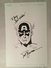 Original Art SAL BUSCEMA CAPTAIN AMERICA 11 x 17 Commission ink Avengers
