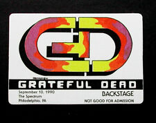 Grateful Dead Backstage Pass GD Paint Color Logo 9/10/1990 Philadelphia Spectrum