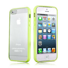 GRASS GREEN Top Grade Hard MATTE PC & Soft GEL Case Cover  For Apple iPhone 5 5S