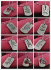 Fashion Sliver Stainless Steel Chains 12 Zodiac Signs Pendant Necklace Colorfast