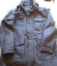 context mens brown leather- size large- mid trench