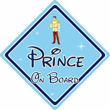 Disney Prince On Board Car Sign – Baby On Board – Cinderella Prince Charming