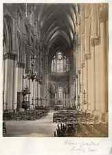 Frith Series. France. Rheims Cathedral. Looking East  vintage albumen print. Pho