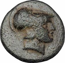Demetrius I Poliorcetes Helmet Macedon Kingdom Galley Ship Greek Coin  i47164