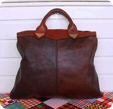 Vintage Leder Schultertasche Hand- Tasche Boho Saddle Bag Shopper Purse Beutel