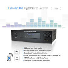 NEW Pyle PT592A Bluetooth 5.1 Channel 300W HDMI Home Stereo Receiver Amplifier