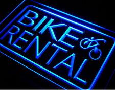 Fahrrad Verleih Vermietung Bike Rantal LED Leuchtschild Werbung Leuchtwerbung