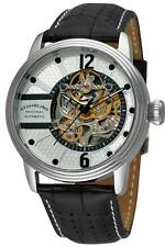 STRIKING SKELETON Stuhrling 308A 33152 Prospero Automatic Black Strap Mens Watch