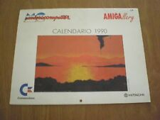 RARO CALENDARIO 1990 AMIGALLERY COMMODORE MICROCOMPUTER amiga msx retrocomputer