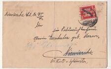 Brief 1927 Amtsgericht Tost Ober Schlesien Toszek Dienstmarke nach Gleiwitz !