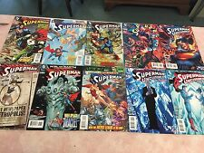 LOT OF TEN DIFFERENT SUPERMAN COMIC BOOKS