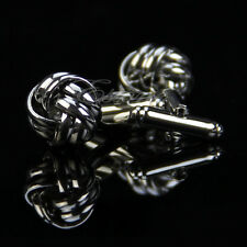Stainless Steel Silver Vintage Cuff Links Men's Shirt Wedding Gift Cufflinks Hot