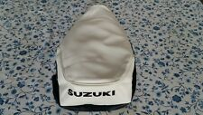 Suzuki FA50 1980 TO 1991 (WHITE)seat cover black dyed logo best quality.