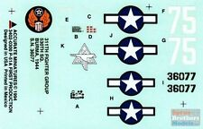 1:48 Accurate Miniatures Decals 3402 P-51A Mustang 311FG/530SQ Burma 1944